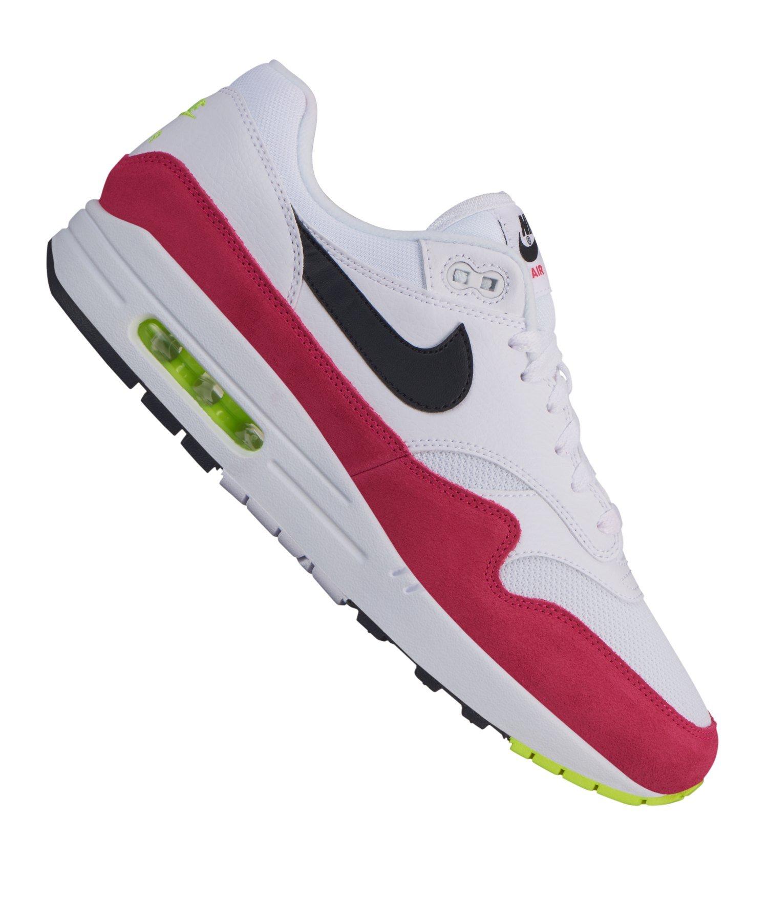 pretty nice 0eb37 63c09 Nike Air Max 1 Sneaker Weiss Rot Schwarz F111 - Weiss