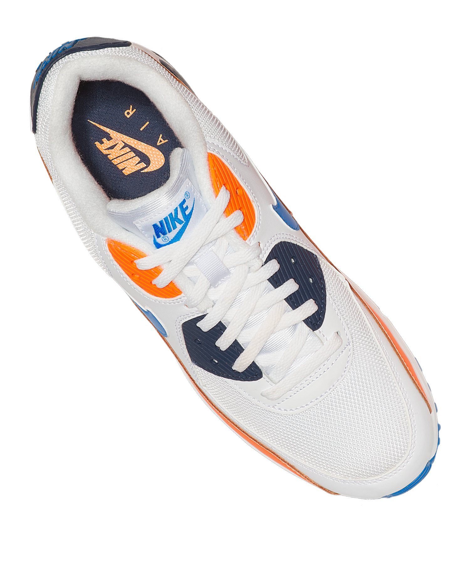 best service da765 83352 ... Nike Air Max 90 Essential Sneaker Weiss Blau F104 - Weiss ...