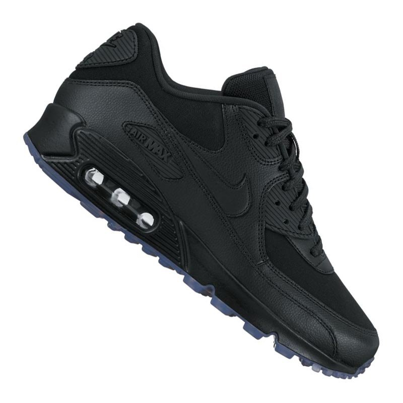 premium selection e2fbc dbe26 Nike Air Max 90 Leather Sneaker Damen Schwarz F001 - schwarz