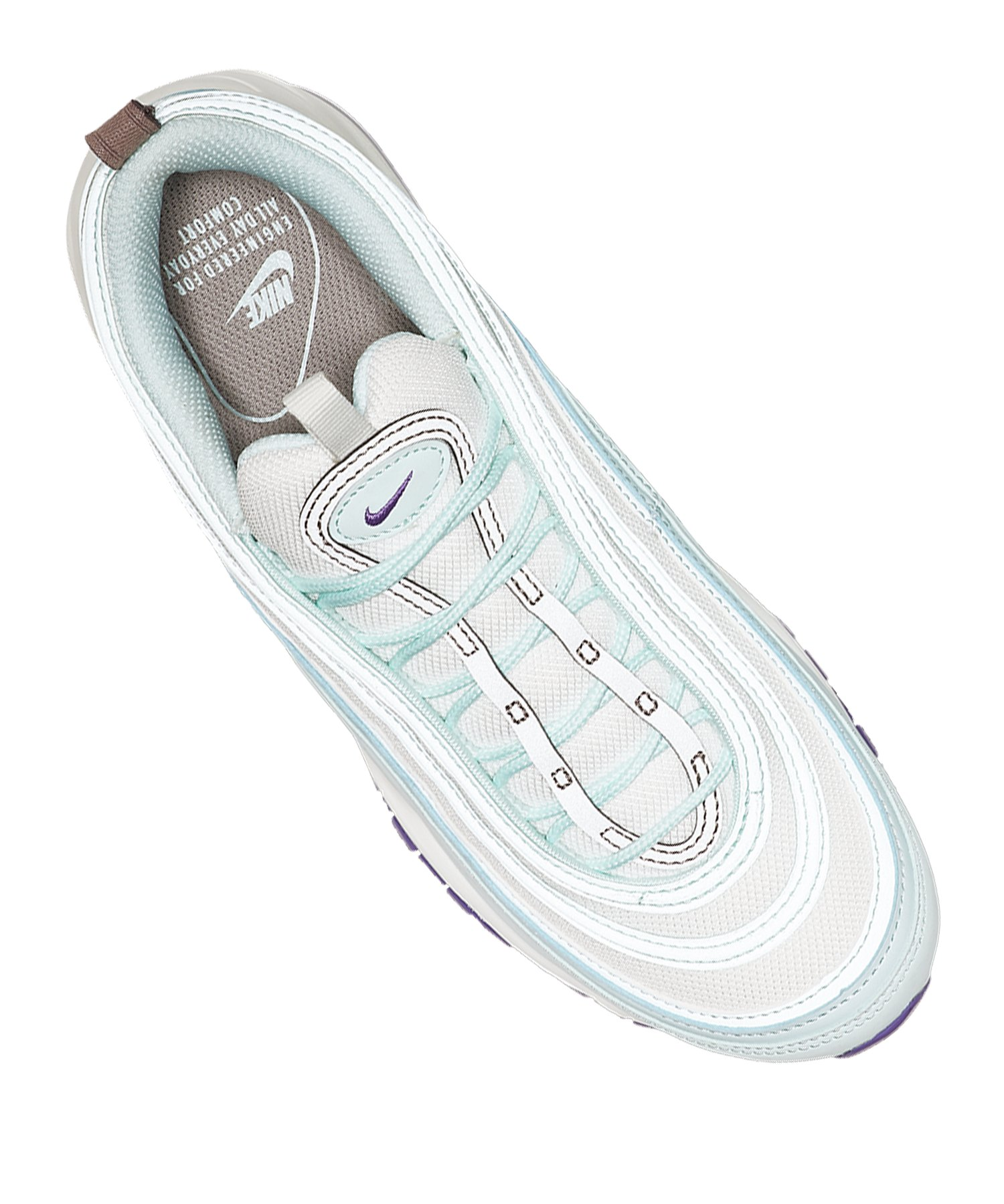 the latest bca03 6deed ... Nike Air Max 97 Sneaker Damen Blau Weiss Lila F303 - blau ...
