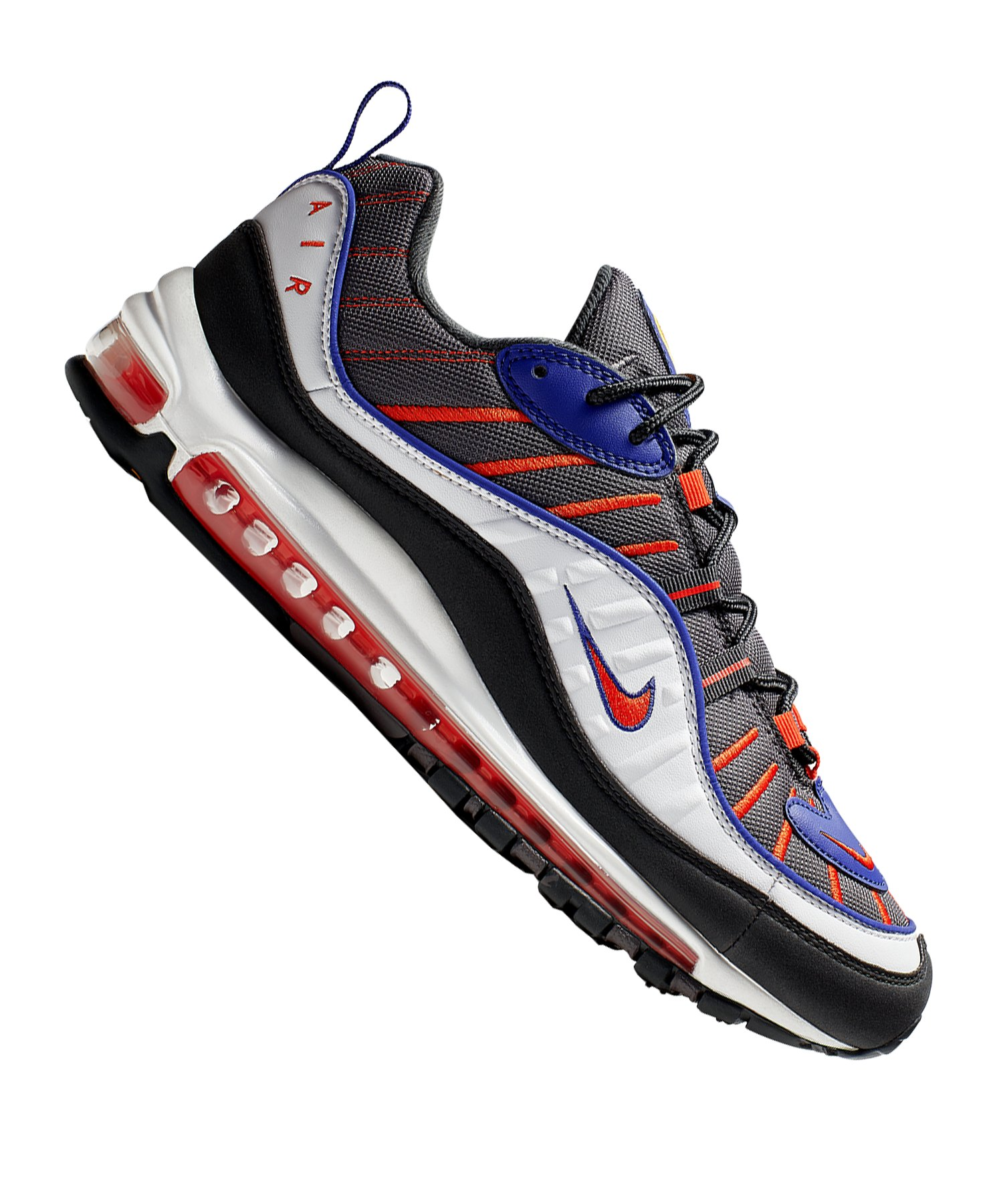 Nike Air Max 98 Sneaker Grau Schwarz F012