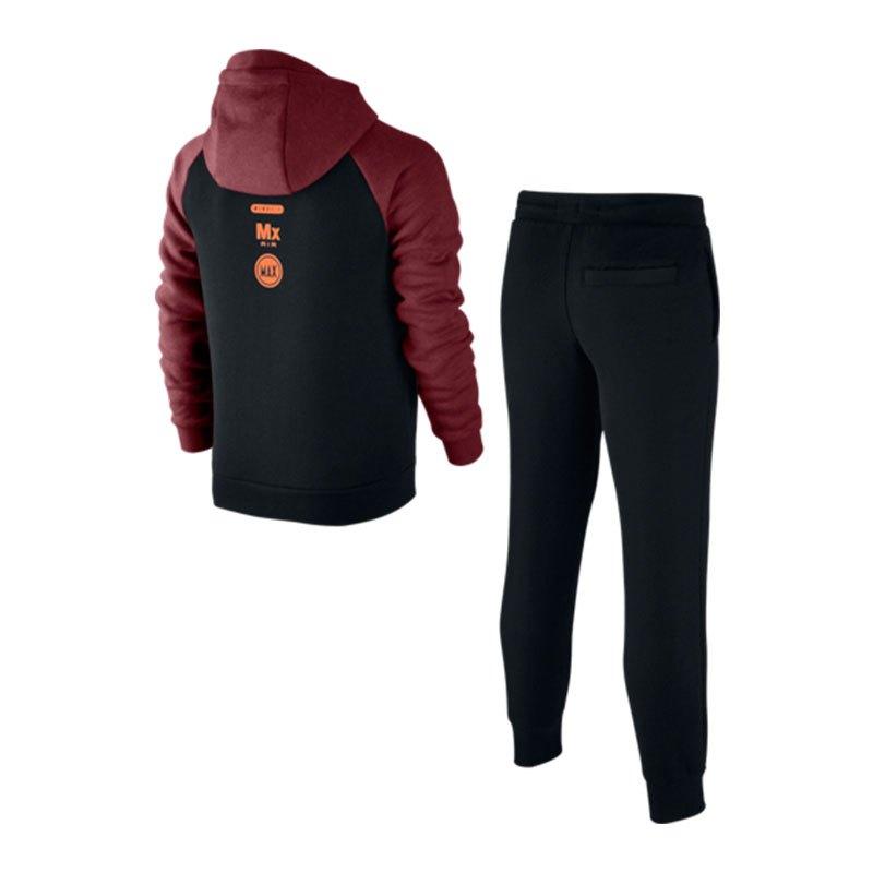 nike air track suit anzug kids rot schwarz f677 freizeit. Black Bedroom Furniture Sets. Home Design Ideas