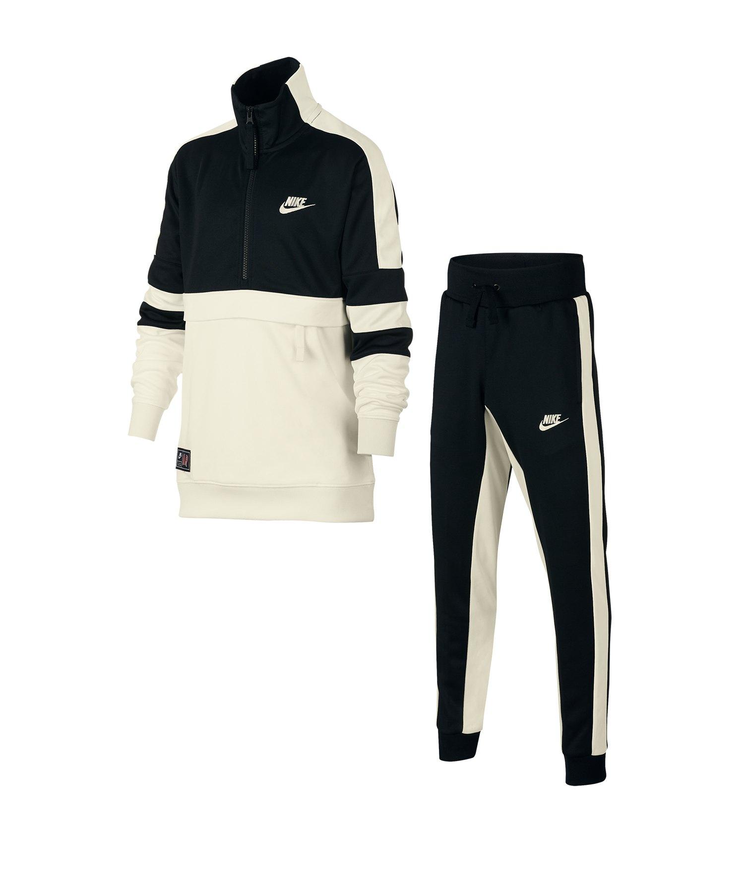 Spielraum autorisierte Website schönes Design Nike Air Track Suit Anzug Kids Schwarz F010