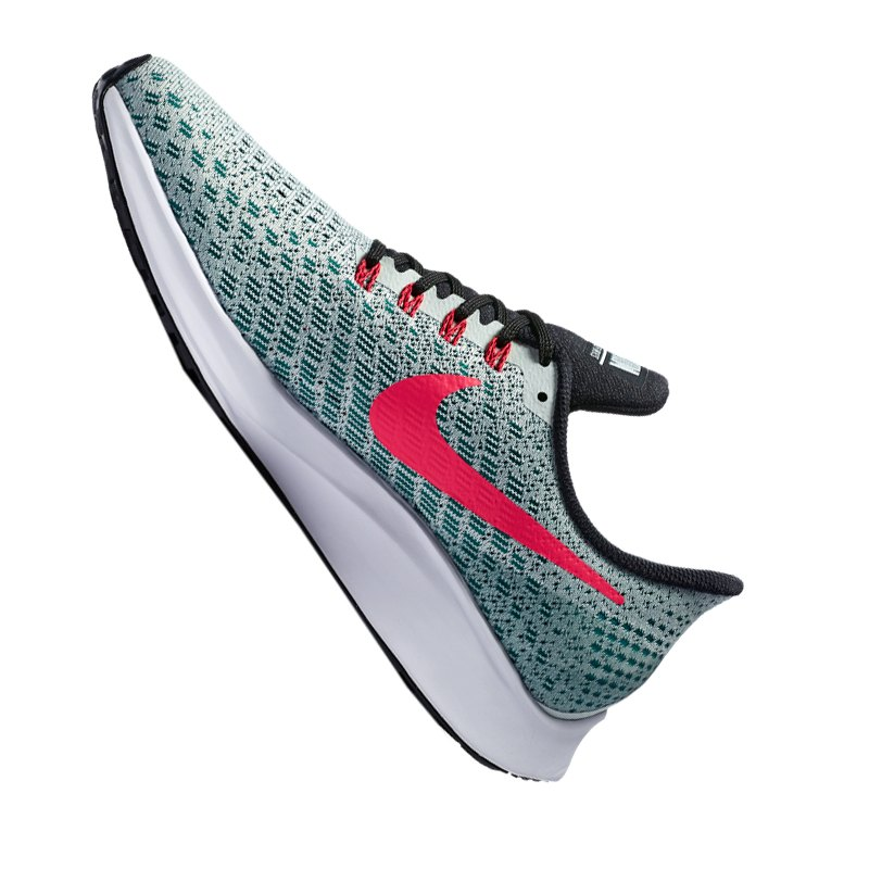 nike air zoom pegasus 35 running gr n rot f009 laufen. Black Bedroom Furniture Sets. Home Design Ideas