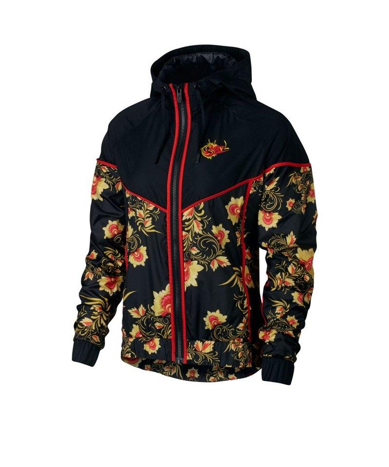 Nike AOP Floral Jacket Jacke Damen Schwarz F010