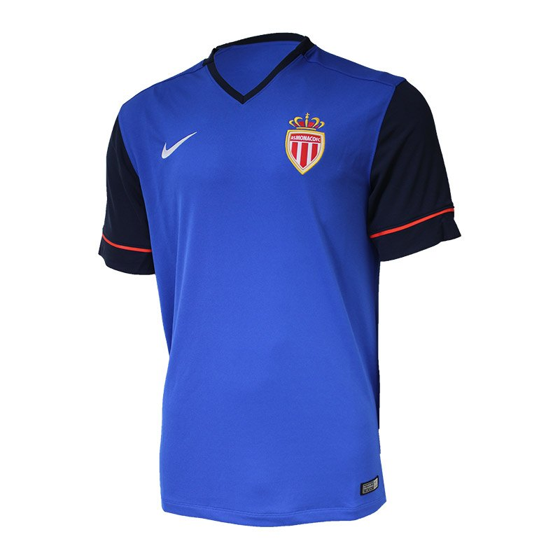 Nike AS Monaco Trikot Away 2014/2015 Kids F480 - blau