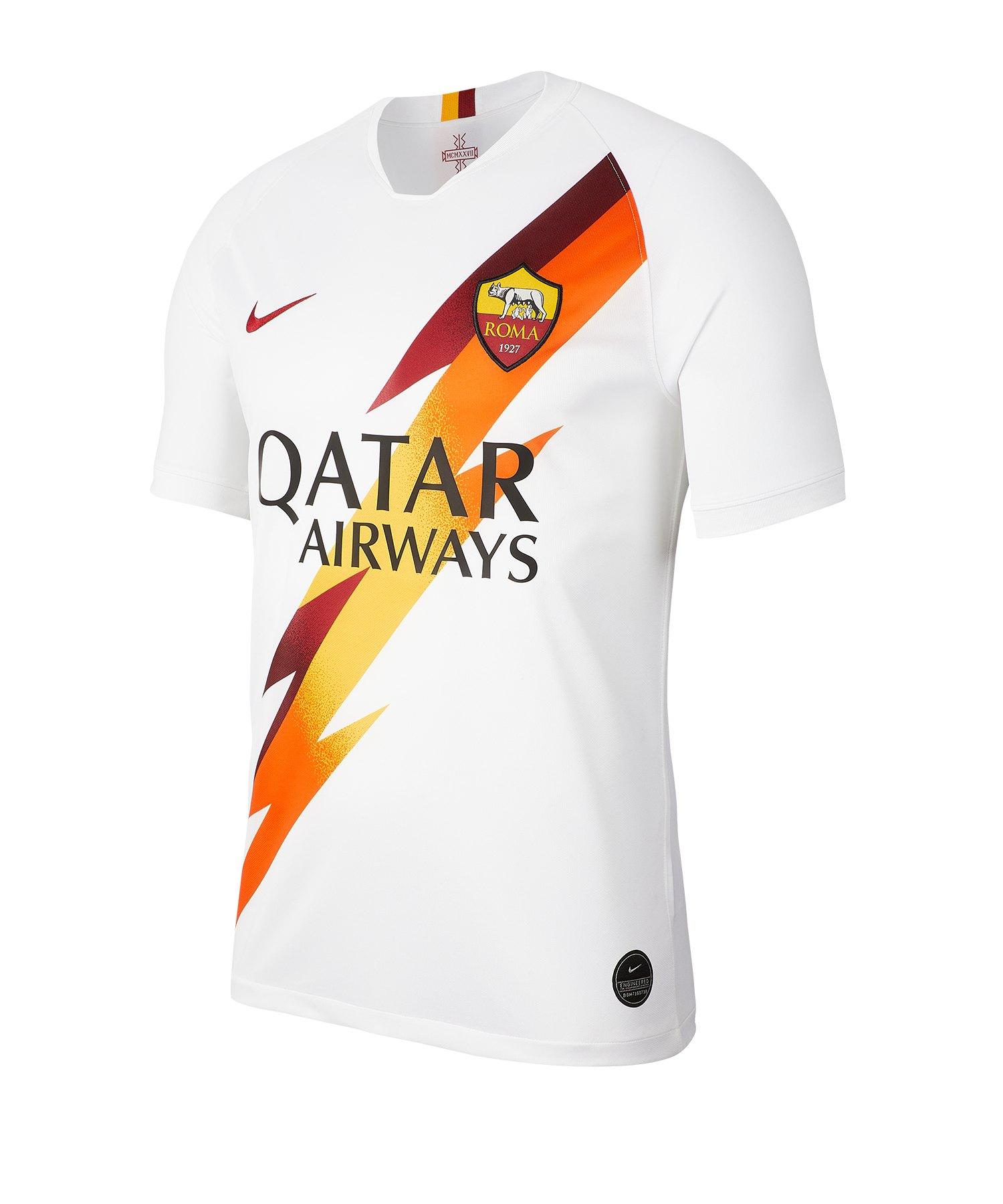 online retailer bc43b c1593 Nike AS Rom Trikot Away 2019/2020 Weiss F100