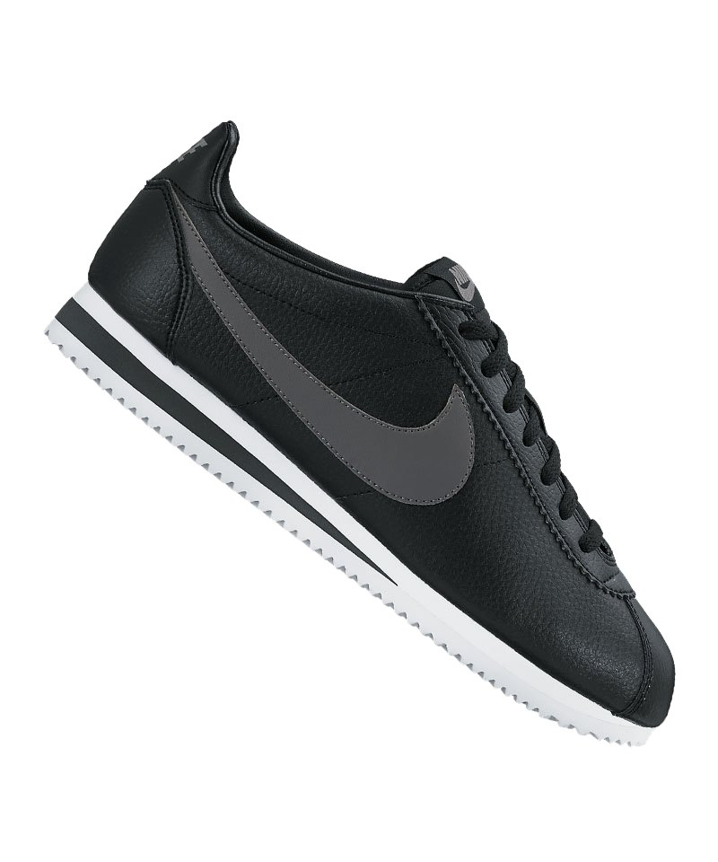 Nike Classic Cortez F011 Leder Schwarz Grau F011 Cortez   Freizeitschuh ... cc7d5d
