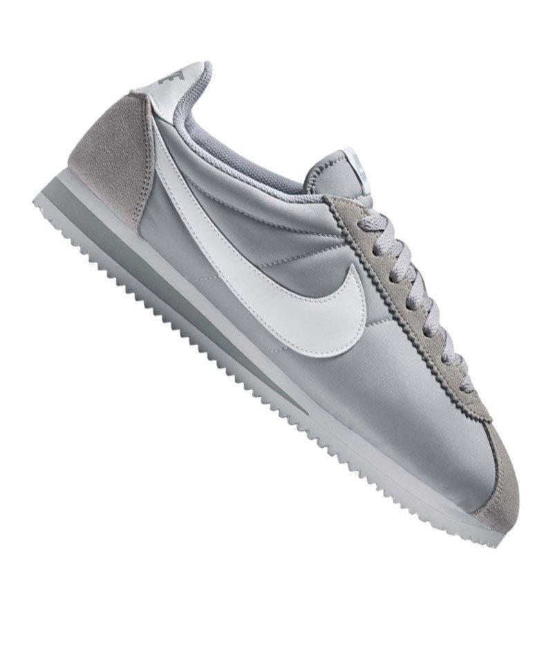 new concept 5a173 5fc7b Nike Classic Cortez Nylon Sneaker Grau Weiss F010