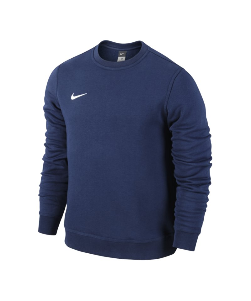 nike club crew sweatshirt blau weiss f451 pullover. Black Bedroom Furniture Sets. Home Design Ideas