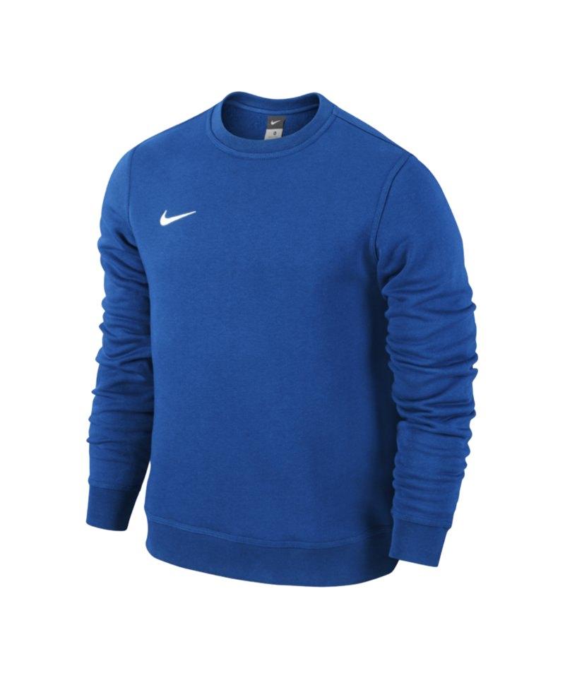 heißer Verkauf online erstklassige Qualität Shop für echte Nike Team Club Crew Sweatshirt Blau Weiss F463