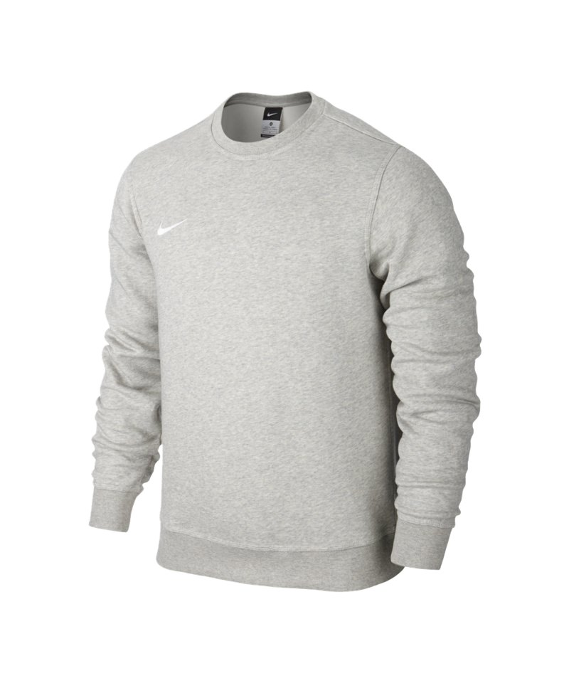nike club crew sweatshirt grau weiss f050 pullover. Black Bedroom Furniture Sets. Home Design Ideas