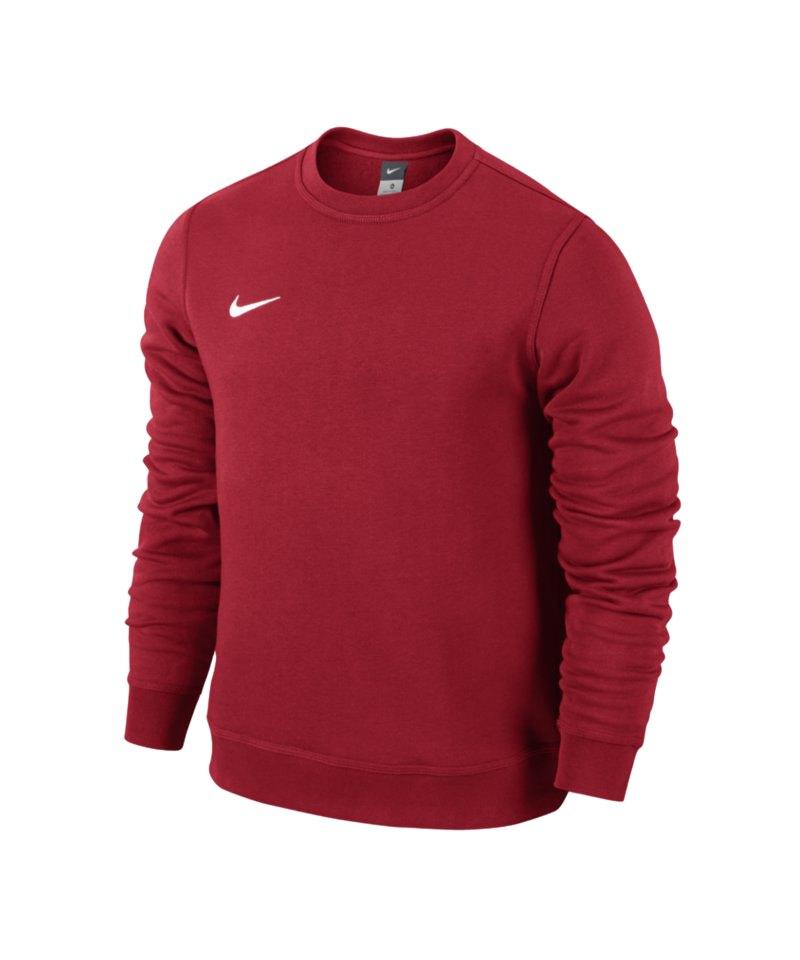 Nike Team Club Crew Sweatshirt Rot Weiss F657