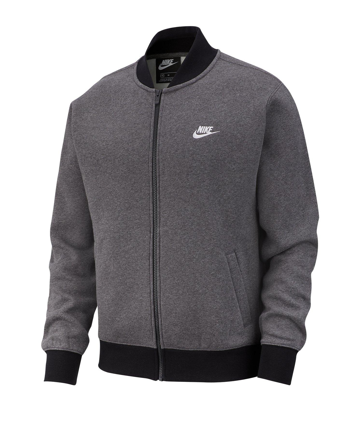 the best attitude 6bc3e d2ad4 Nike Club Fleece Bomber Jacket Jacke Grau F071