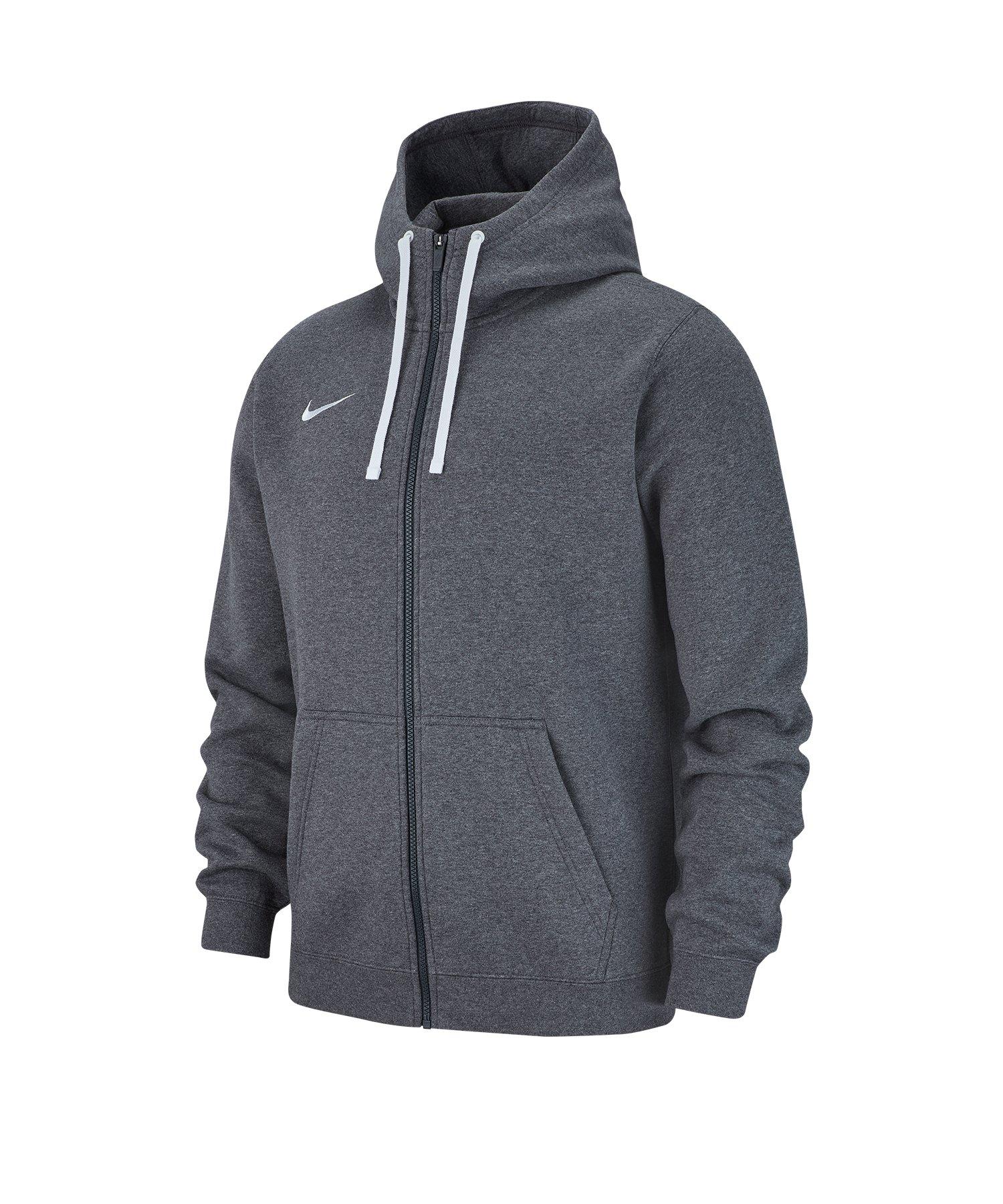 Nike Club 19 Fleece Kapuzenjacke Grau F071