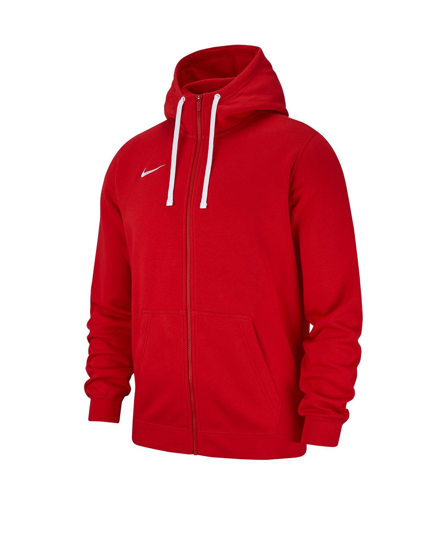 Nike Team Sport Express Core Fleece Hoodie Rot Weiß