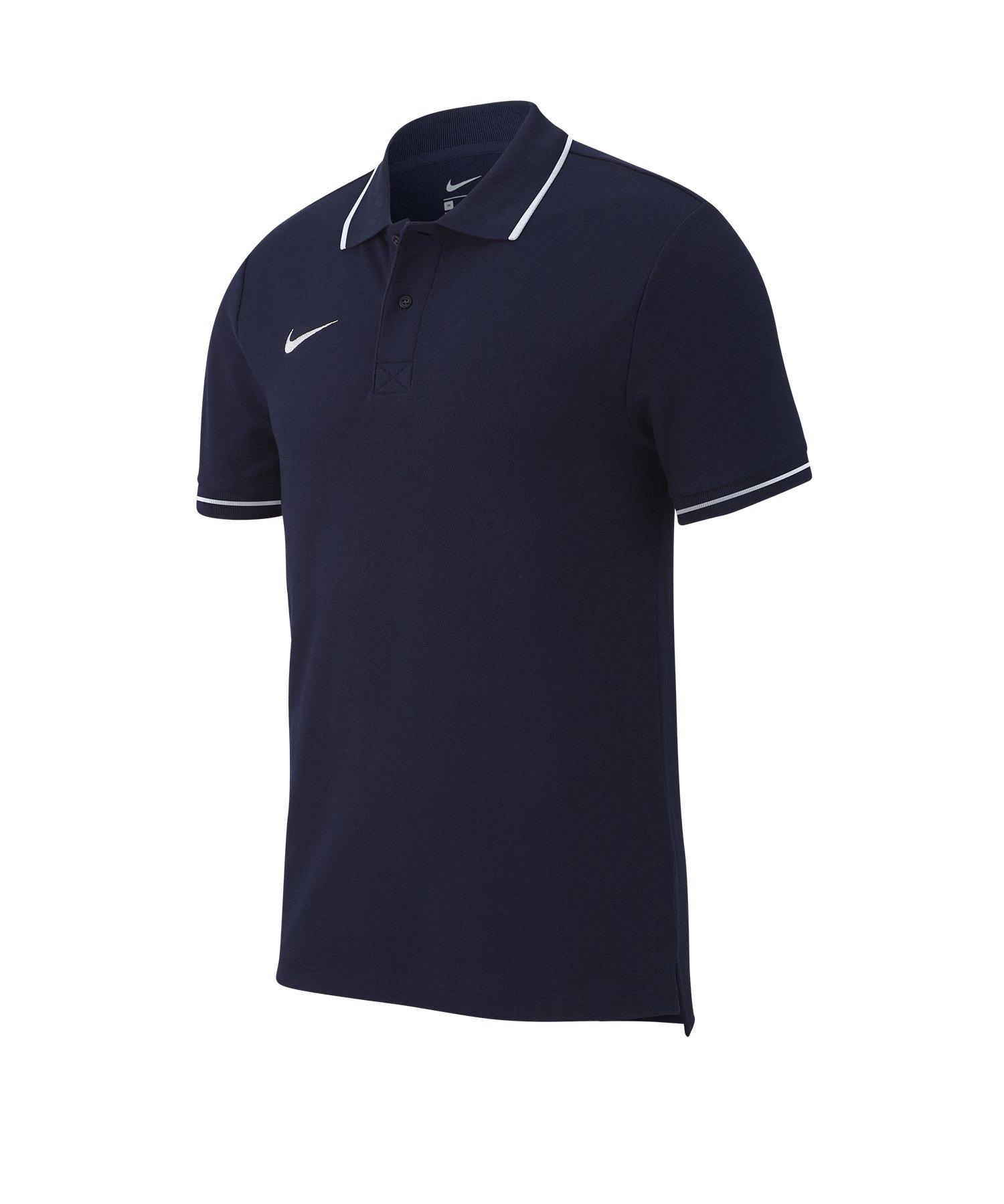new style c6b81 96268 Nike Club 19 Poloshirt Blau F451
