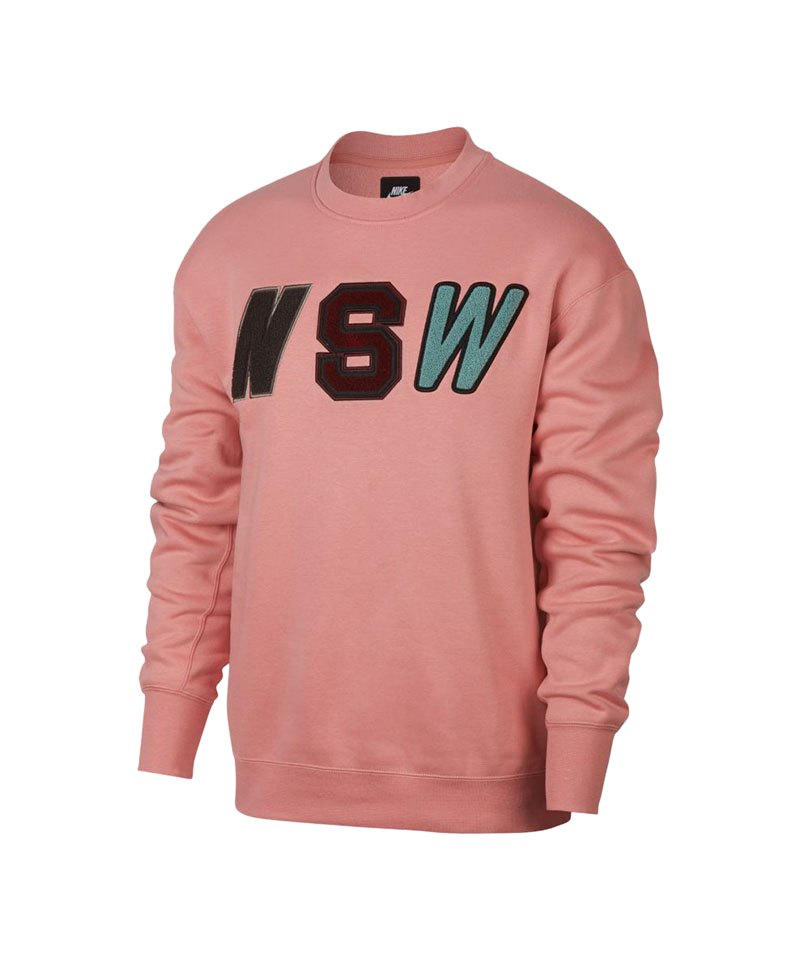low priced 79abc b6740 Nike Crew Fleece Sweatshirt Rosa F685