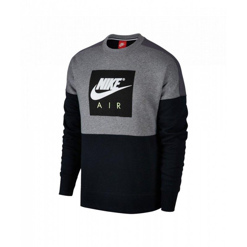 Nike Air Crew Sweatshirt Grau Schwarz F091 - grau