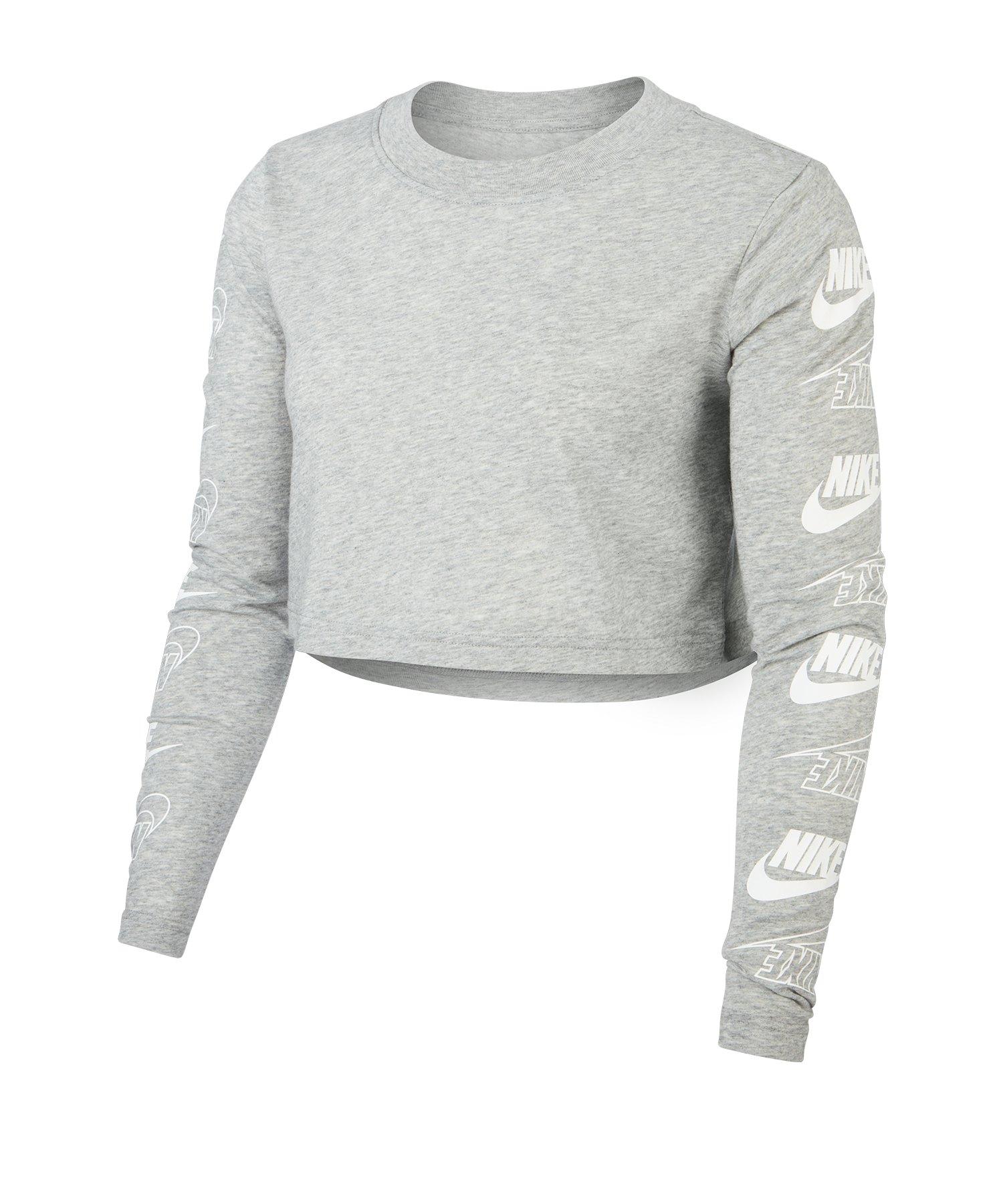 Nike Cropped Longsleeve T Shirt langarm Damen F063