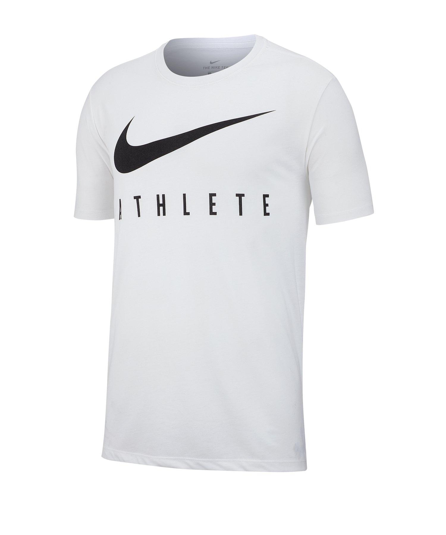 nike dry tee t-shirt weiß