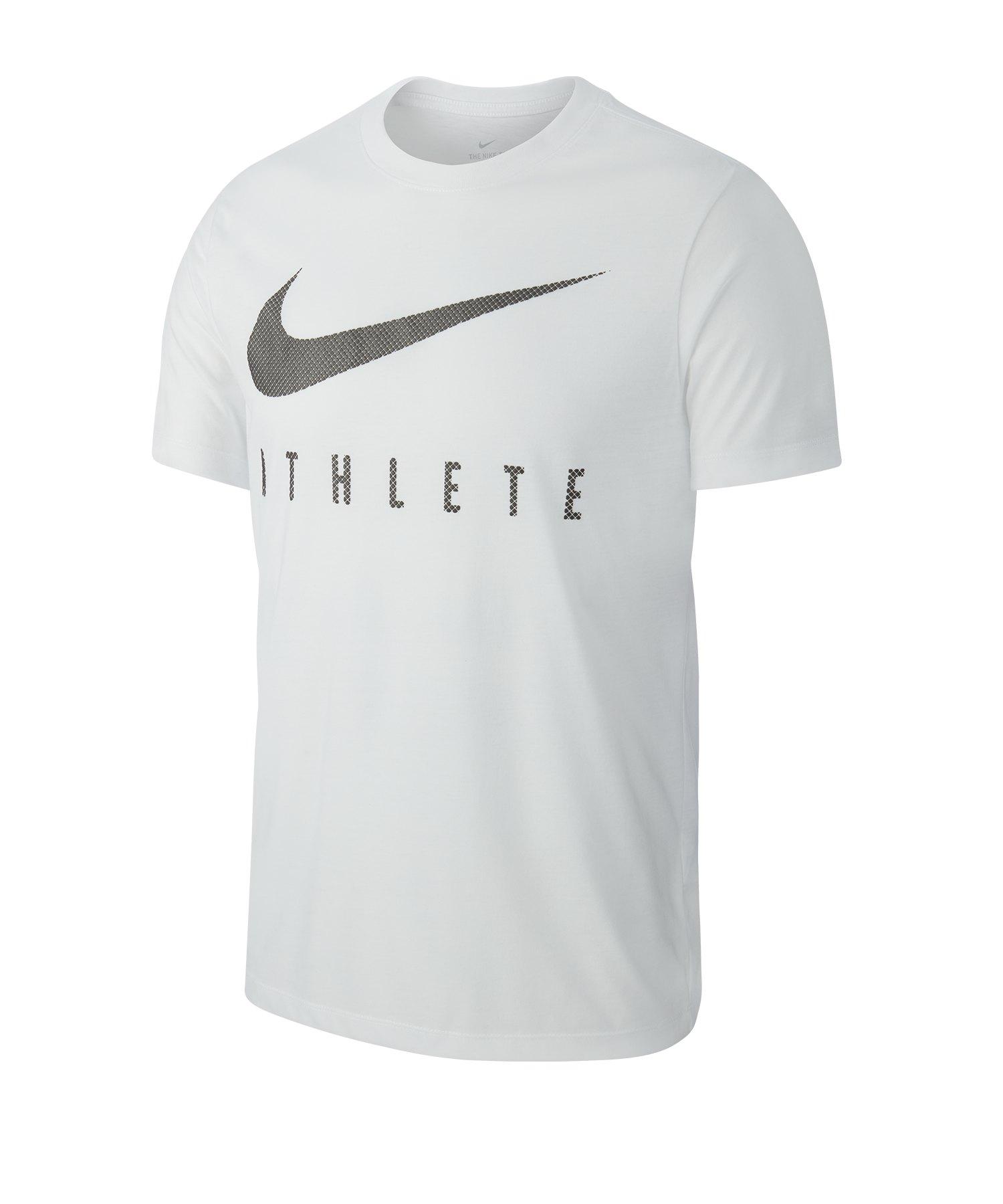 Nike Dri FIT Tee T Shirt Weiss F100
