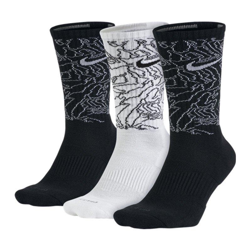 nike dri fit topo camo crew socks 3er pack f901 strumpf. Black Bedroom Furniture Sets. Home Design Ideas