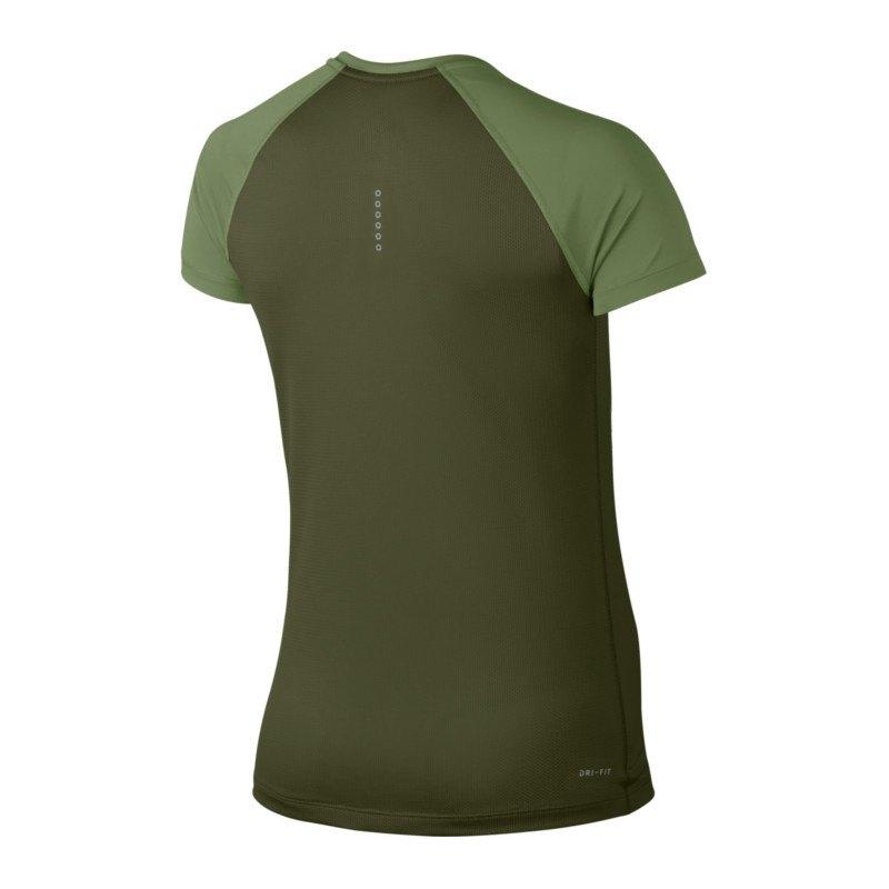 nike dry miler top t shirt running damen f387 kurzarm top laufshirt laufen joggen. Black Bedroom Furniture Sets. Home Design Ideas