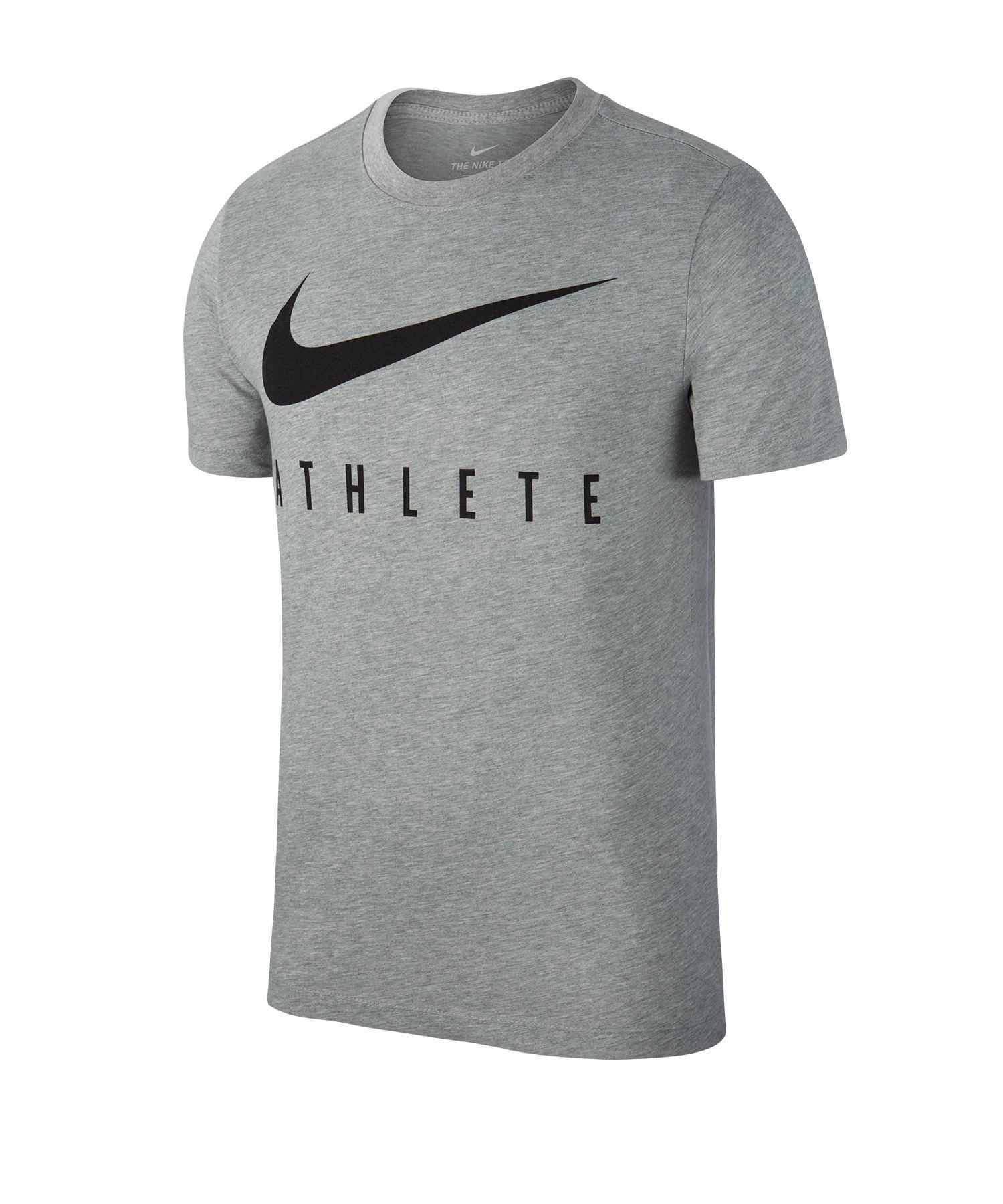 32a90177349d48 Nike Dry Tee Athlete T-Shirt Grau F063 - Grau