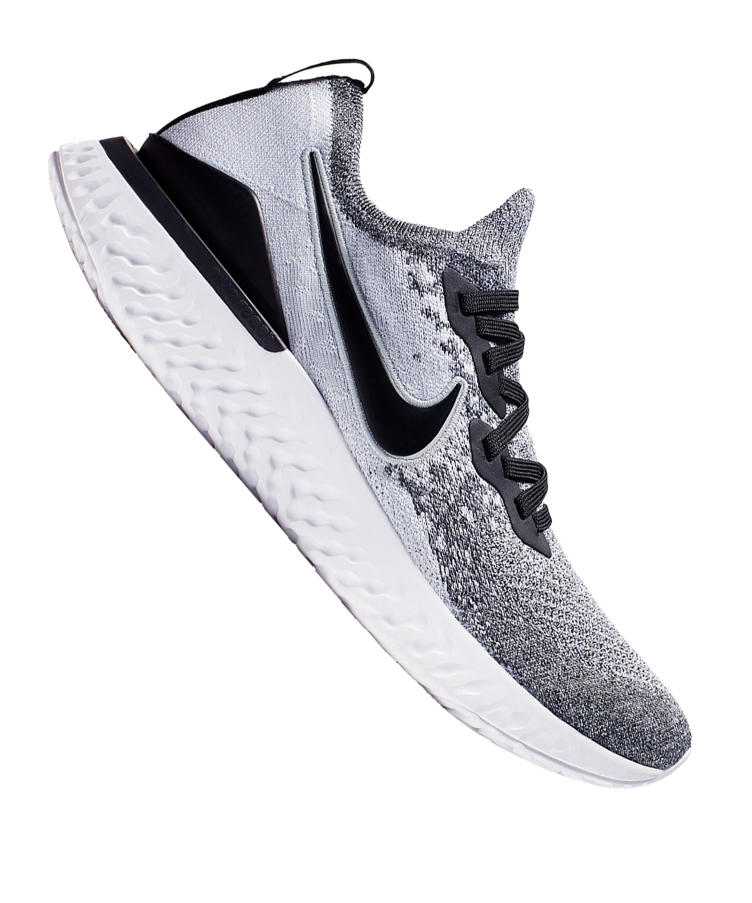 check out 571b2 09f97 Nike Epic React Flyknit 2 Running Weiss Grau F101 - Weiss