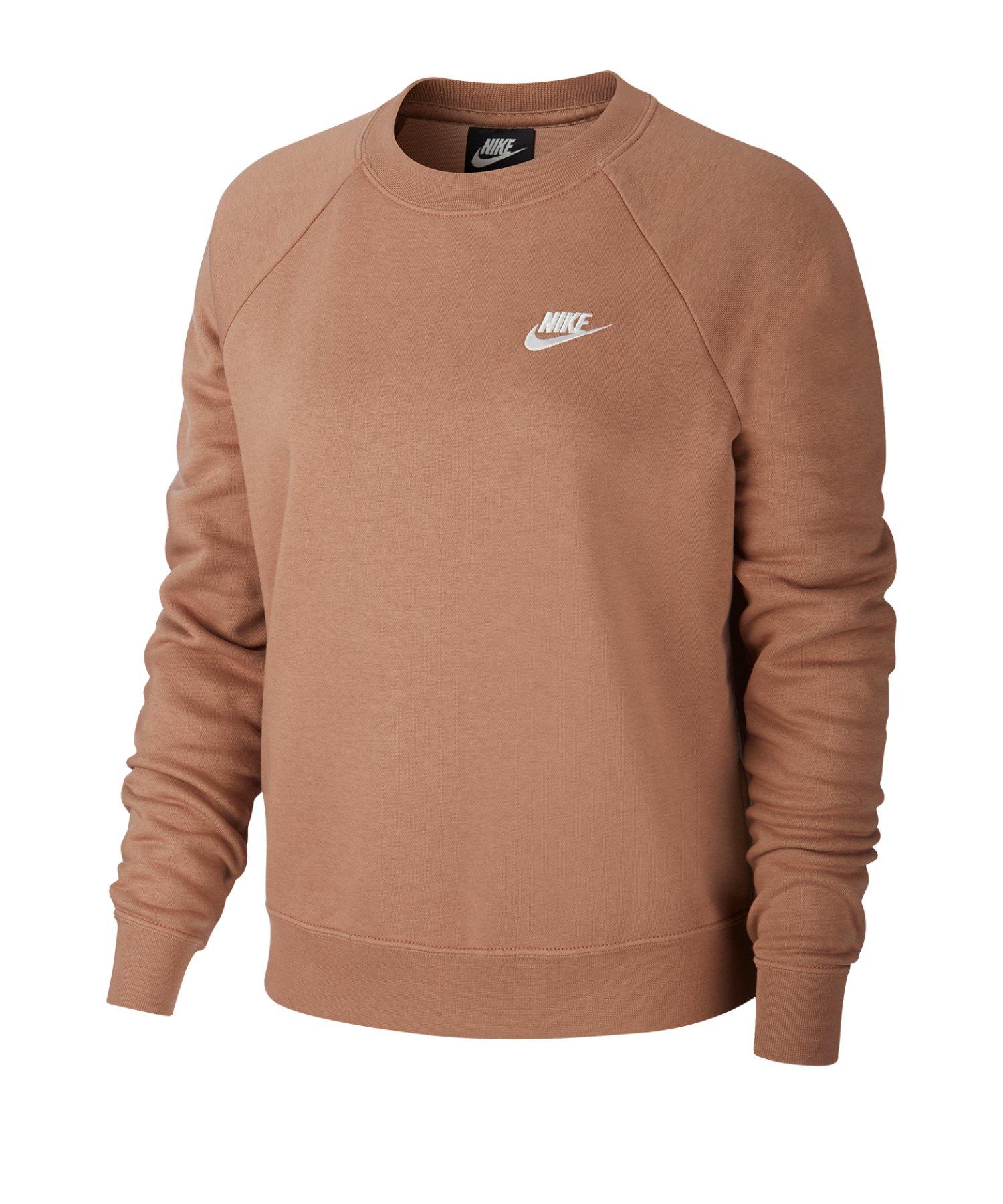 Nike Essential Fleece Pullover Damen Braun F283