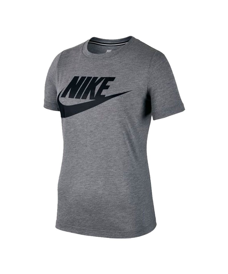 nike essential tee t shirt damen grau f091 lifestyle freizeit frauenbekleidung. Black Bedroom Furniture Sets. Home Design Ideas