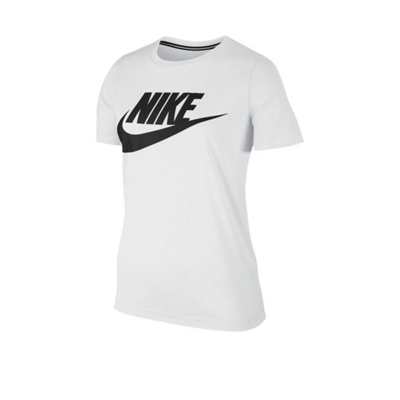 nike essential tee t shirt damen weiss f100 weiss. Black Bedroom Furniture Sets. Home Design Ideas