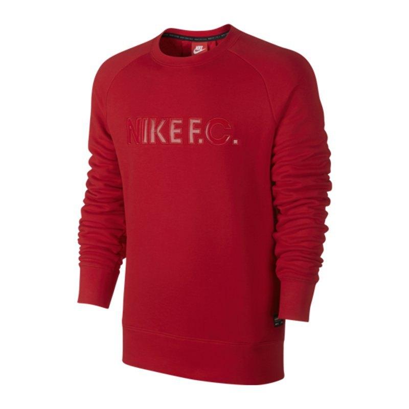 nike f c city crew sweatshirt pullover lifestyle men rot. Black Bedroom Furniture Sets. Home Design Ideas