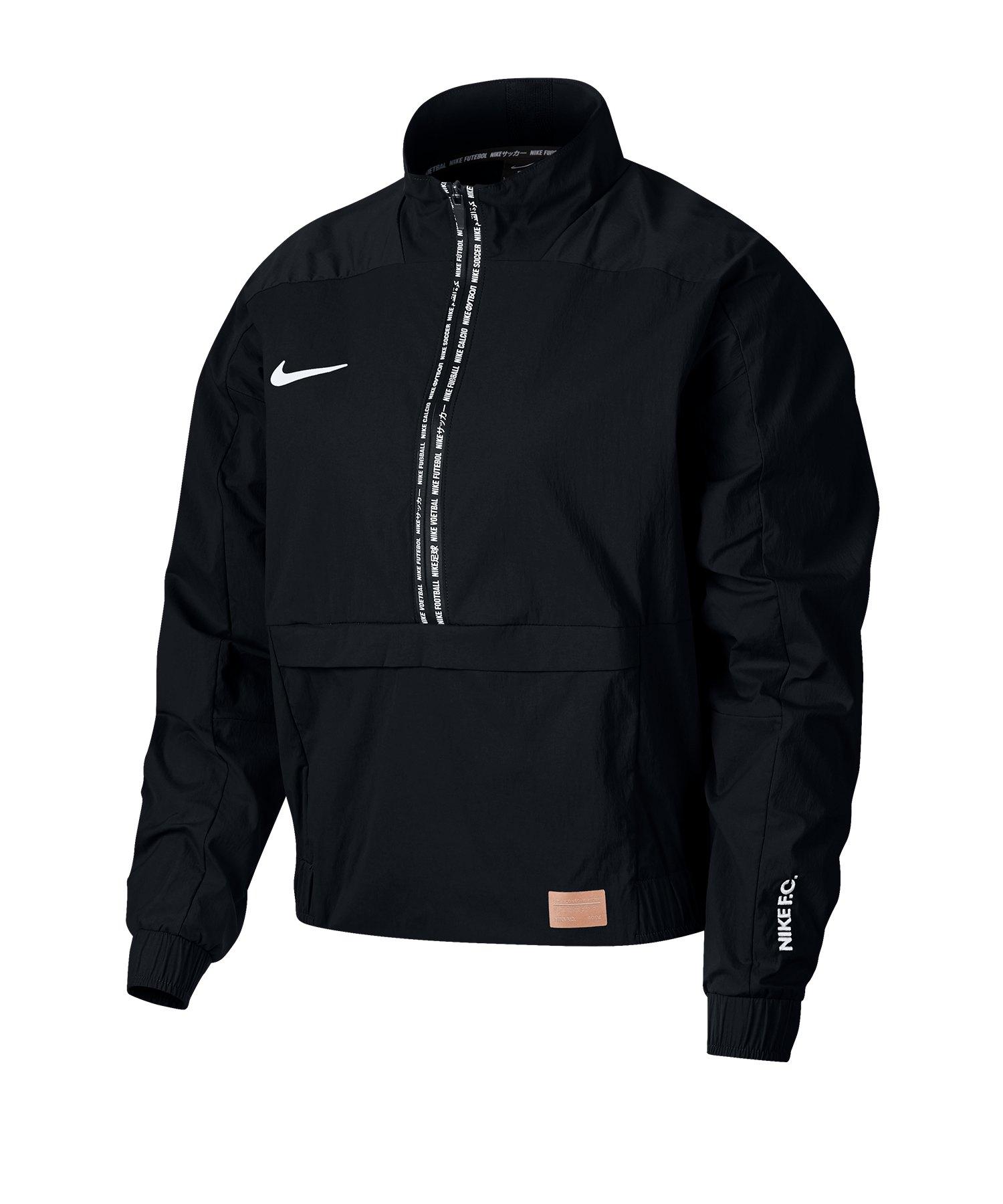 Nike F.C. Crop Jacket Jacke Damen Schwarz F010