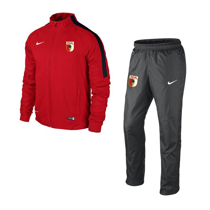 Nike FC Augsburg Präsentationsanzug Kids 2016/2017 - rot