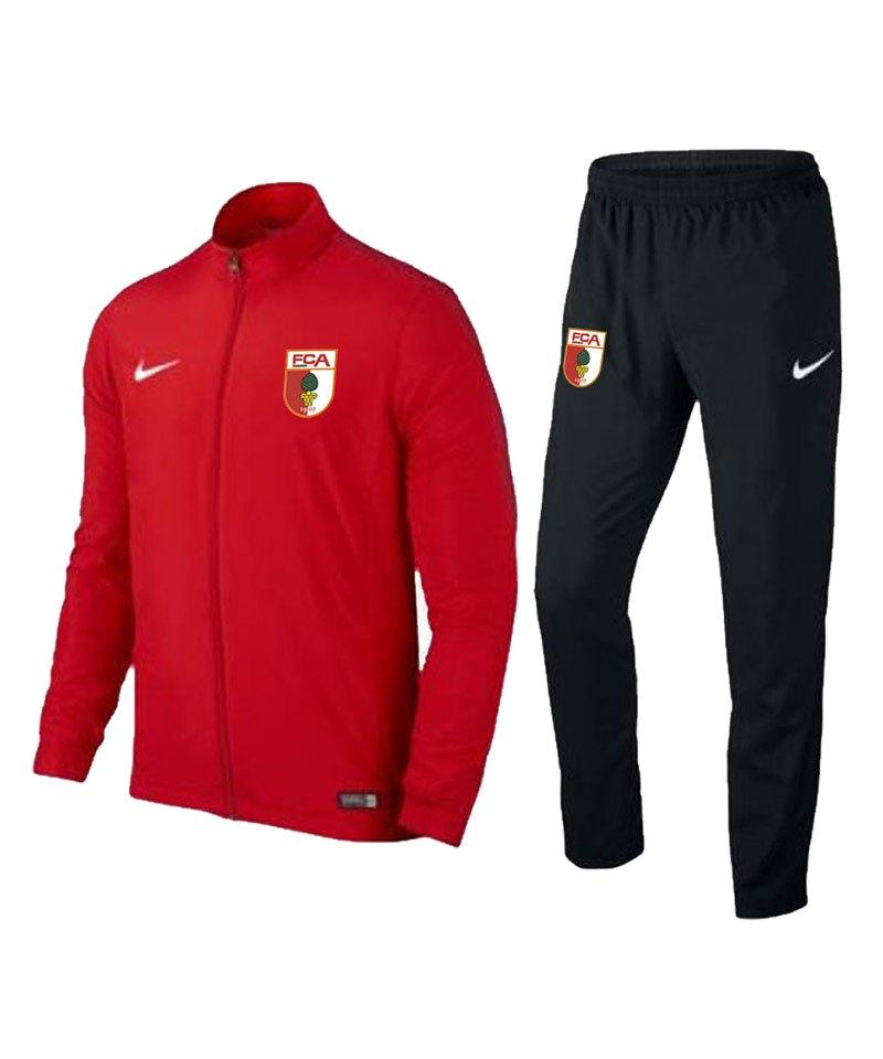 Nike FC Augsburg Präsentationsanzug Rot F657 - rot