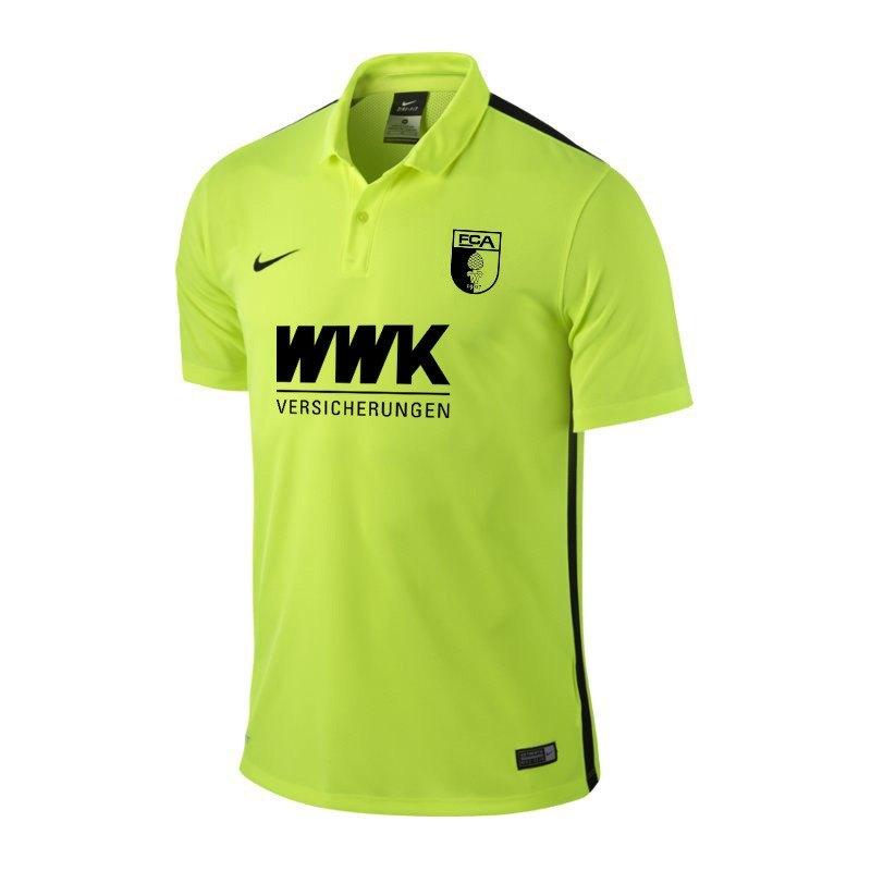 Nike fc augsburg sondertrikot 2016 2017 gelb f715 for Bundesliga trikots