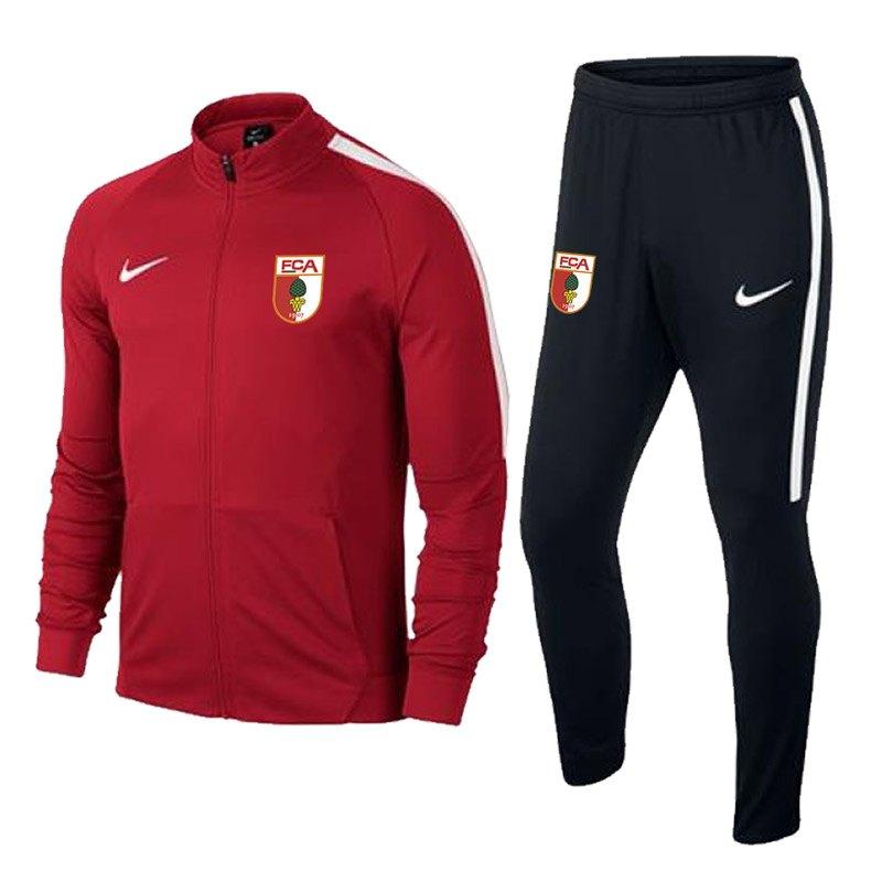 Nike FC Augsburg Trainingsanzug Rot F657 - rot