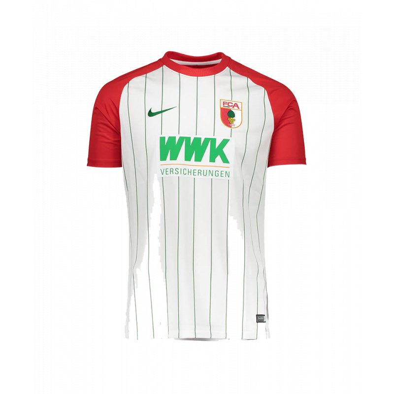 Nike FC Augsburg Trikot Home 2017/2018 Weiss F102 - weiss