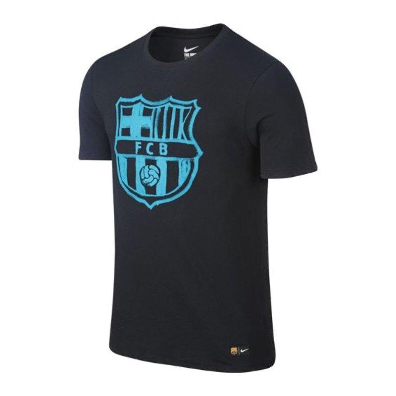 nike fc barcelona crest tee t shirt kids f011 kurzarm top fanshirt fanartikel primera. Black Bedroom Furniture Sets. Home Design Ideas