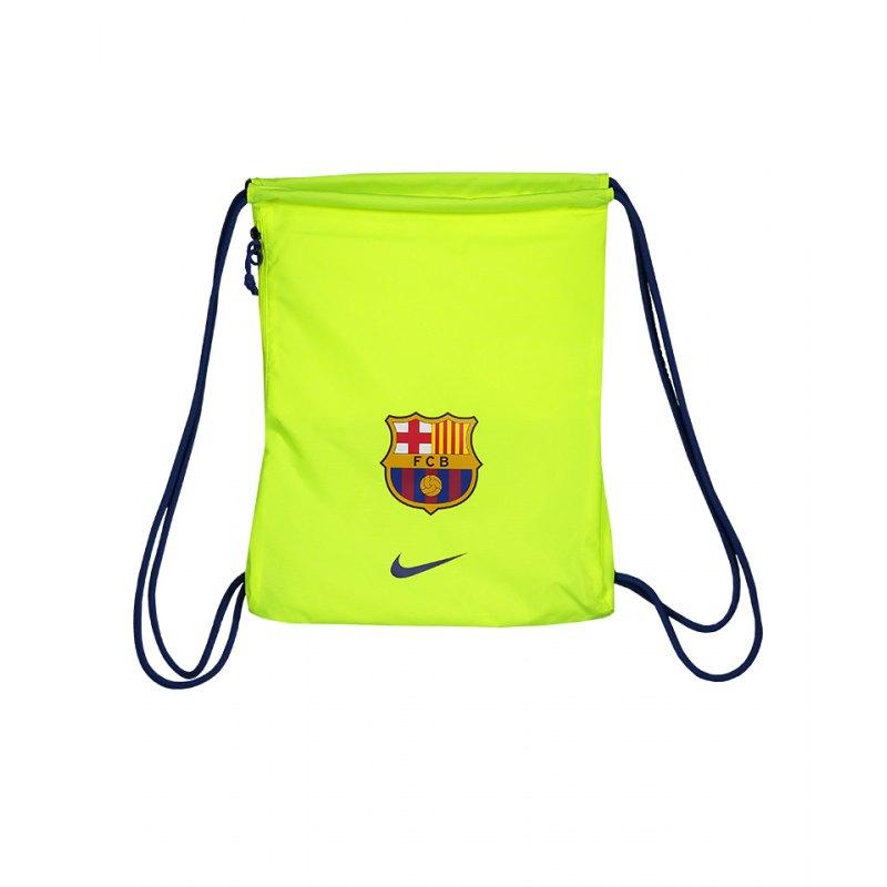 e6a35ff4be163 Nike FC Barcelona Gymsack Sportbeutel Gelb F702 - gelb