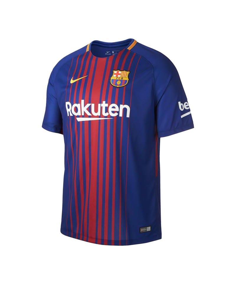Nike FC Barcelona Trikot Home 2017/2018 Blau F456 - blau