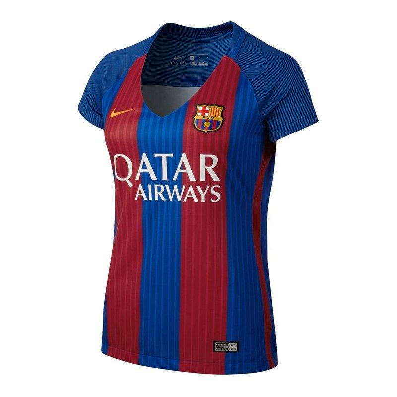 nike fc barcelona trikot home damen 2016 17 f415 heimtrikot kurzarm jersey fanartikel. Black Bedroom Furniture Sets. Home Design Ideas