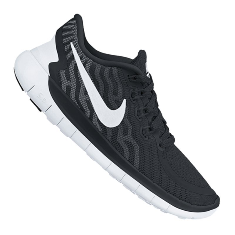 nike free 5 0 running wmns schwarz weiss f002 laufschuh. Black Bedroom Furniture Sets. Home Design Ideas
