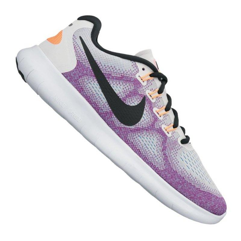Nike Free RN 2017 Running Damen Weiss Lila F102 | Laufschuh ...
