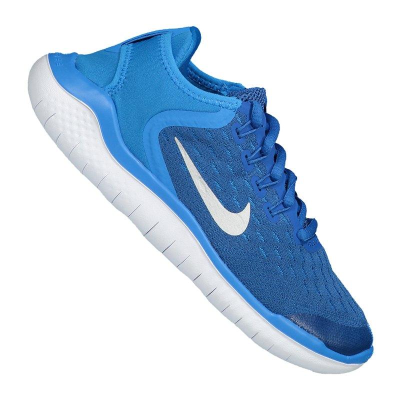 save off 2756a 9ca84 Nike Free RN 2018 Running Kids Blau Weiss F401 - blau