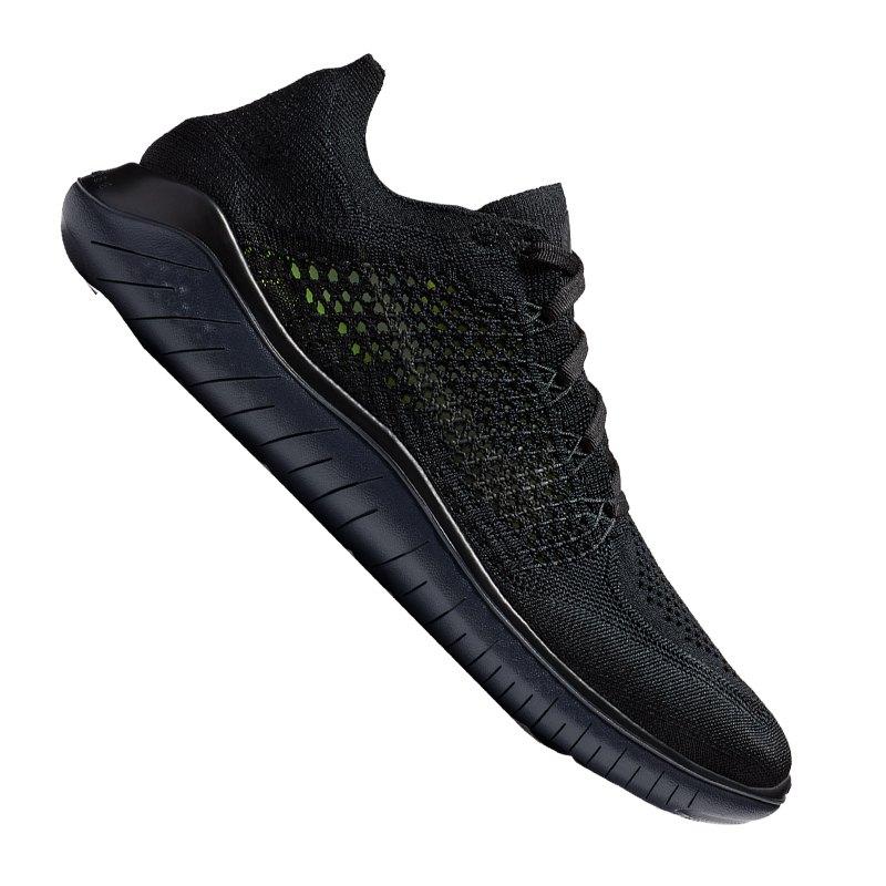 best service attractive price amazing price Nike Free RN Flyknit 2018 Running Schwarz F002