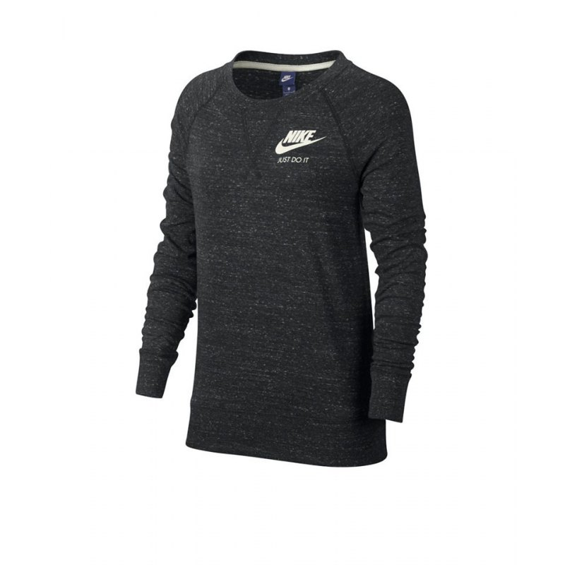 nike gym vintage crew sweatshirt damen grau f060. Black Bedroom Furniture Sets. Home Design Ideas