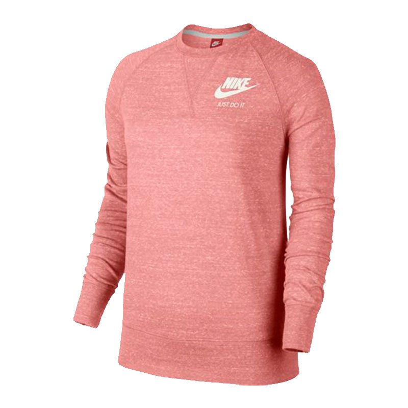 nike gym vintage crew sweatshirt damen rosa f808. Black Bedroom Furniture Sets. Home Design Ideas